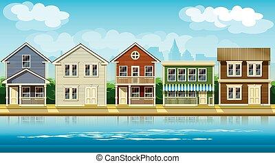 casas, suburbio