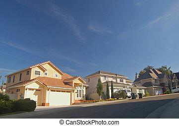 casas, suburbios