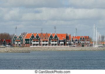 casas, típico, holandês