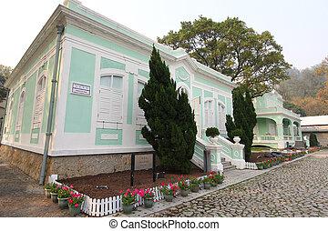 casas, taipa, -, macao, museo