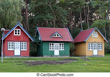 casas, tres