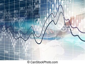 casato, analisi, affari, grafico, scambio, diagram.