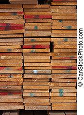 casato, kept, mucchio legno, sale.