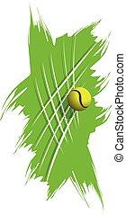 casato, palla, astratto, fondo, illustrazione, tennis