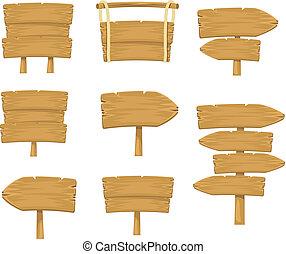 casato, segno, assi, legno, vettore