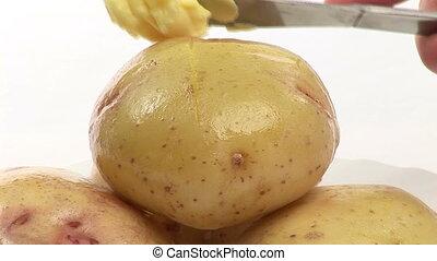 casato, video, metraggio, di, patate