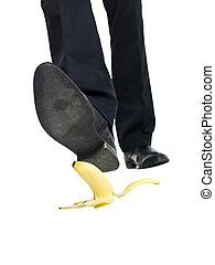 casca, banana, deslizamento