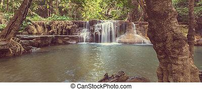 cascada, en, tailandia