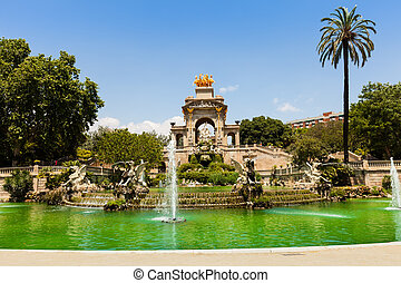 Cascada fountain in Barcelona. Catalonia