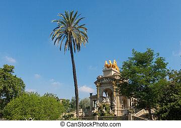 the Park Citadel in Barcelona, Spain.