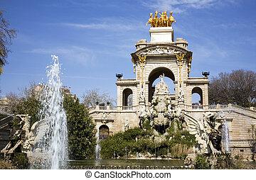 Cascada, Parc de la Ciutadella - The great fountain Cascada...
