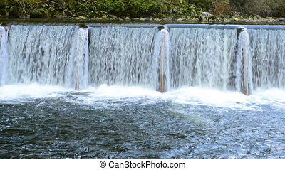 cascade, chute eau
