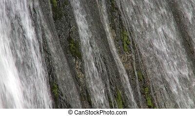 """Cascade """"Escondida"""". Patagonia, Argentina. Closeup"""