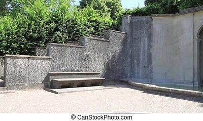 """Cascade Fountain """"Water Paradise"""" in Baden-Baden. Europe...."""