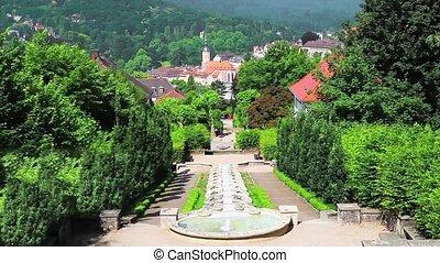 """Cascade Fountain """"Water Paradise"""" in Baden-Baden. Europe. ..."""