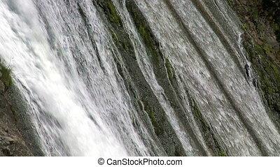 Cascade. Slow motion - Cascade closeup. Patagonia,...
