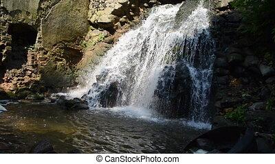 cascade water flow fall