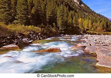 Cascades of the Krimml waterfalls.
