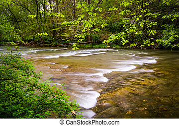 Cascades on the Conestoga River in Lancaster County Central...