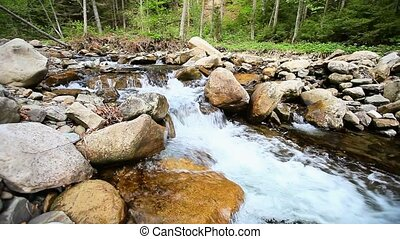 Cascades on the small river - horiz