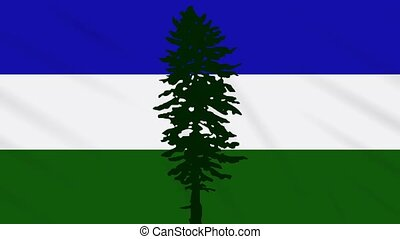 Cascadia flag waving cloth, ideal for background, loop