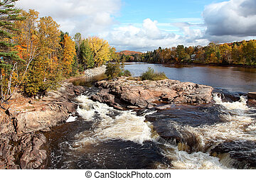cascading, rio, e, cores baixa
