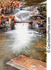 Cascading water of a stream