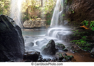 Cascading waterfall in beautiful Australian bushland