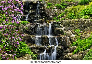 Cascading waterfall