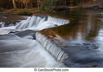 Cascading Waterfalls in Michigan's Upper Peninsula