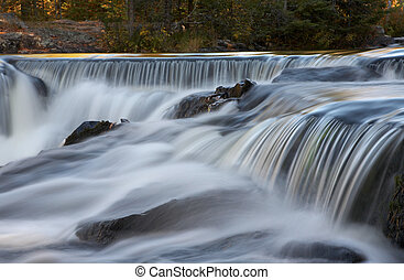Cascading Waterfalls in Michigan\\\'s Upper Peninsula