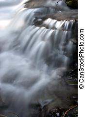 Cascading waterfalls.