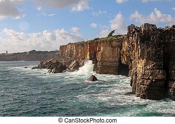 cascais, 崖, ポルトガル