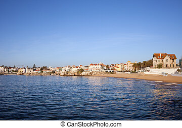 cascais, 海岸, 在中, 葡萄牙