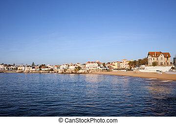 cascais, brzeg, w, portugalia