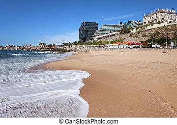 cascais, plaża, w, portugalia
