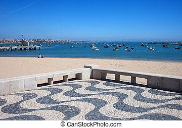 Cascais Promenade and Bay in Portugal