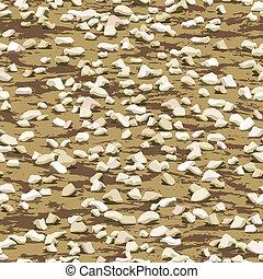 cascalho, ligado, terra, chão, seamless, textura