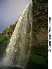 cascata, a, seljalandfoss