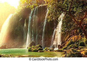 cascata, in, vietnam
