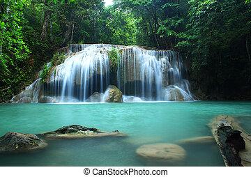 cascata, kanchanaburi, erawan, tha
