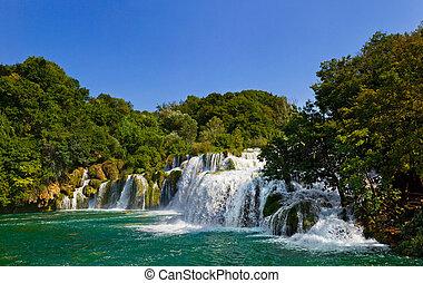 cascata, krka, in, croazia