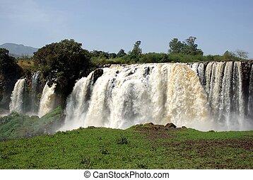 cascate, in, etiopia
