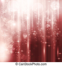cascate, luce, con, stelle, e, bokeh, fondo