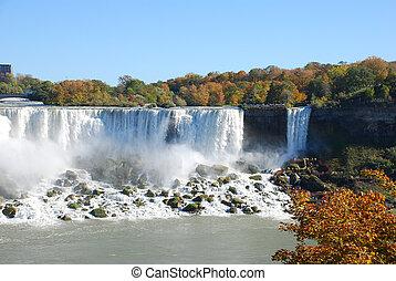 cascate niagara, in, autunno