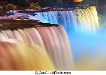 cascate niagara, in, colori