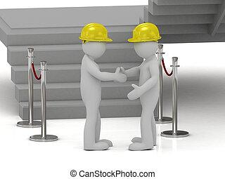 Uomo costruzione 3d recinto morph recinto render for Cianografie a due piani