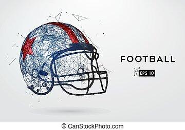casco, fútbol, Ilustración, norteamericano,  vector, negro