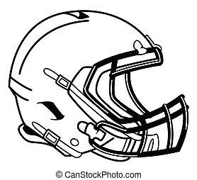 casco, fútbol