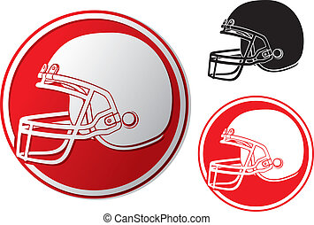 casco, football americano, icona